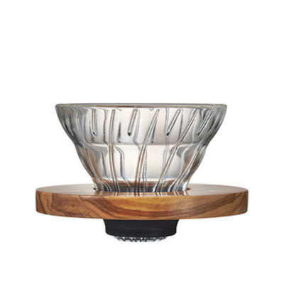 V60 Glass Dripper Olive Wood 01
