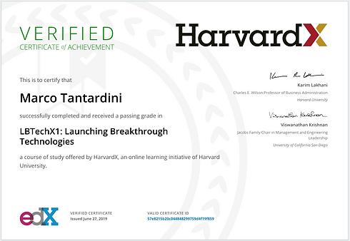 Certificate edX HarvardX Launching Break