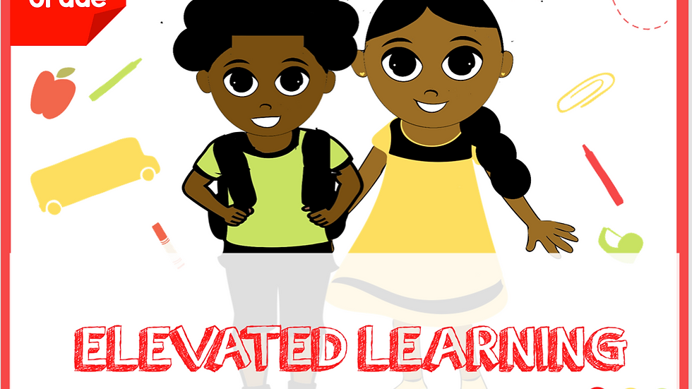 First Grade Elevated Learning Binder