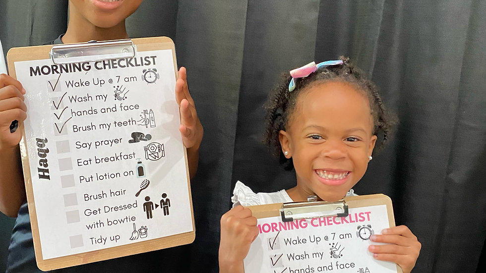Morning and Evening Checklist