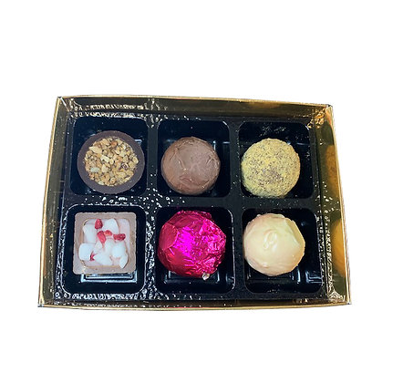 Box of 6 handmade chocolates