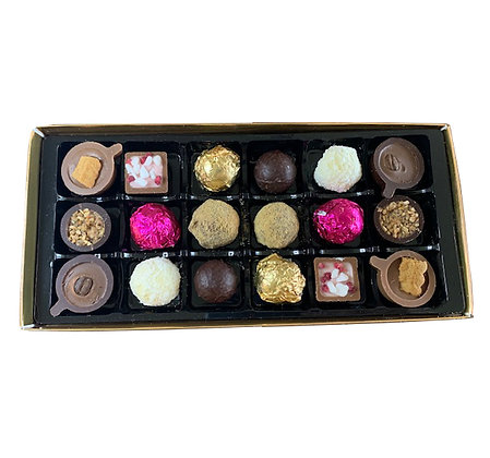 Box of 18 handmade chocolates