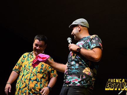 Agustín Durán y Jesús Arenas dieron la nota en Estival Humor