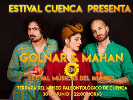 GOLNAR & MAHAN PROTAGONIZARÁN EL ESPACIO DE MÚSICAS DEL MUNDO DE ESTIVAL CUENCA 2018