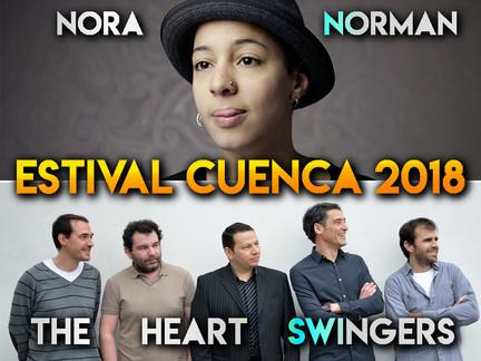 NORA NORMAN Y THE HEART SWINGERS,  LOS ELEGIDOS PARA CERRAR ESTIVAL CUENCA 18