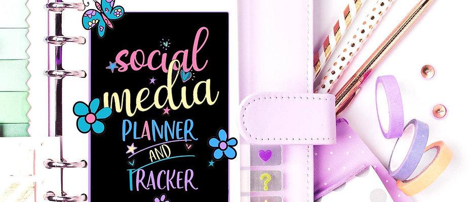 Social Media Planner and Tracker! Printables, Project Planner,  Bullet Journal,