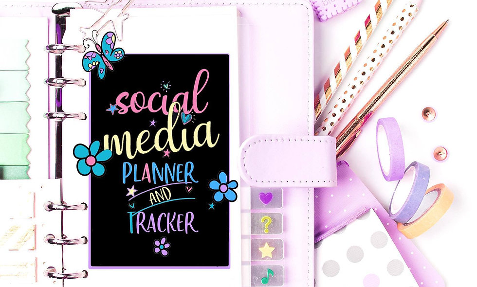 Social Media Planner and Tracker! Printables, Project Planner,  Bullet Journal,