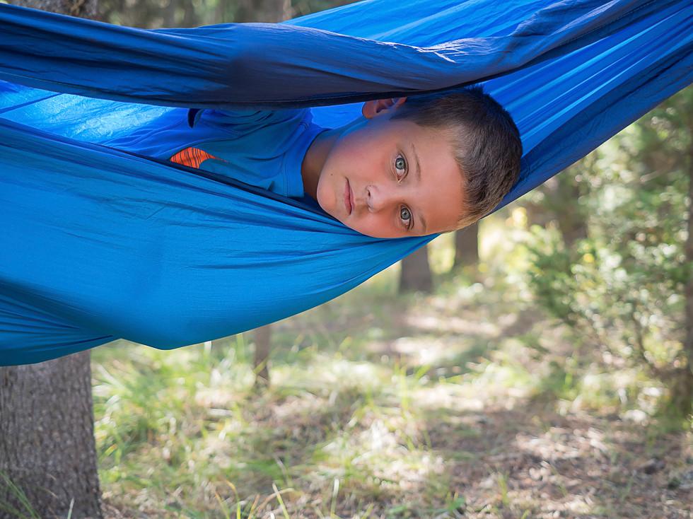 Boy in a Blue Hammock