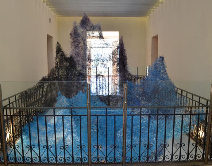 vista general desde la primera planta del museo