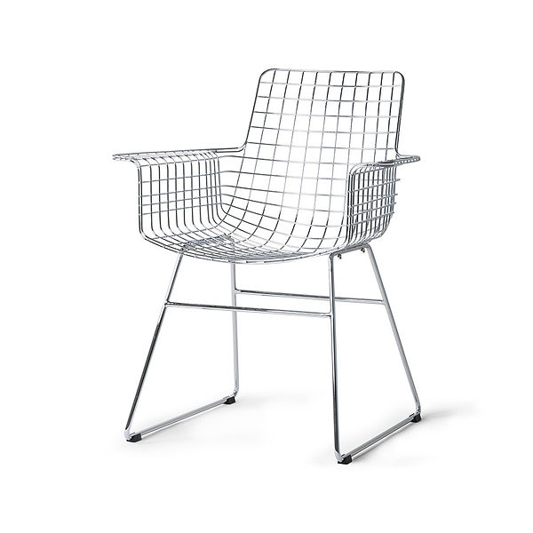 hk-living-metal-wire-chair-with-armrest-