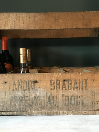 ANDRE BRABANT WOODEN WINE CRATE