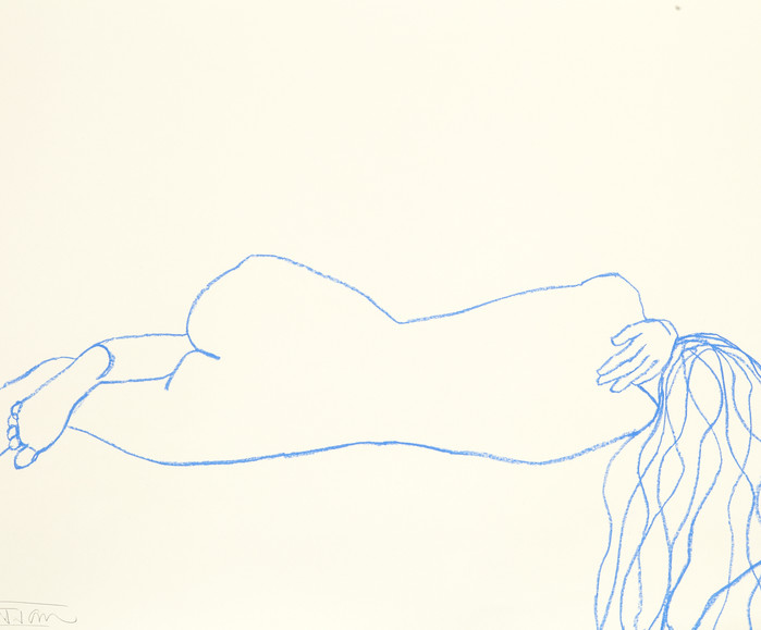 LYING NUDE BLUE LINE