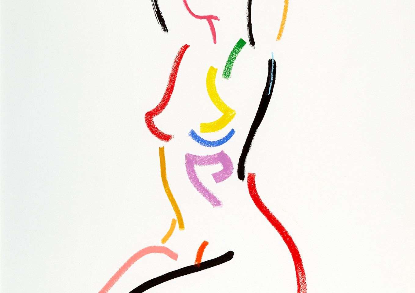 LINE SEATED NUDE