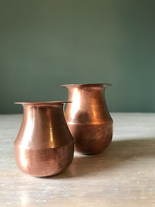 A PAIR OF COPPER VESSELS