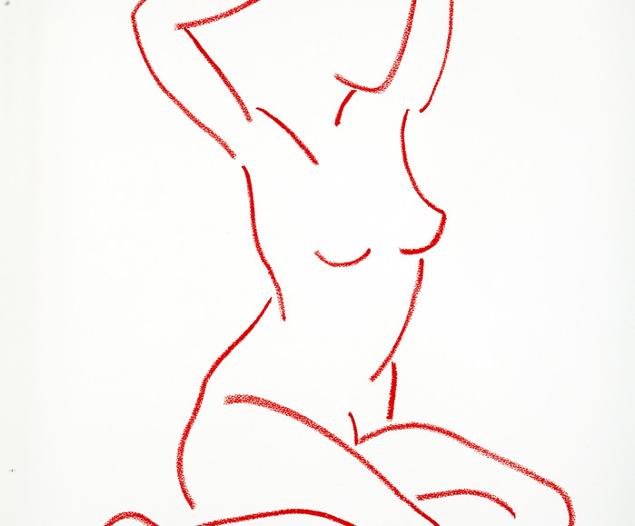 SEATED NUDE RED