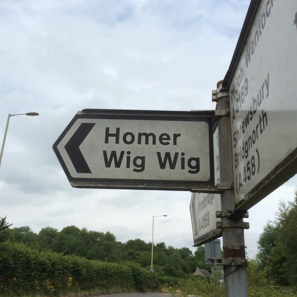 Road sign between Ironbridge and Bridgenorth