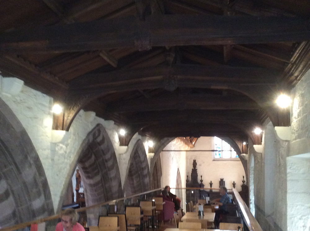 View of the gallery cafeteria in St Philips Church, Hereford