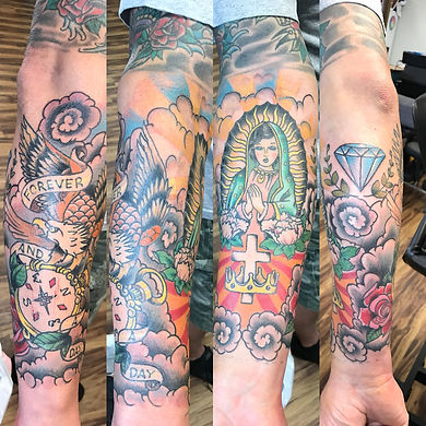 neo traditional tattoo, religious tattoo, compass tattoo, eagle tattoo, gregg allan, tattoo gallery ocala, ocala tattoo, summerfield tattoo, belleview tattoo, gainesville tattoo, villages tattoo, best tattoo, best ocala tattoo