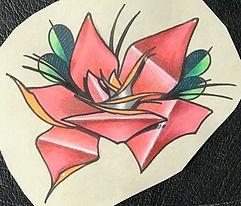 custom art, custom artwork, tattoo design, rose