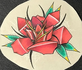 custom art, custom artwork, tatoo design, custom design, rose, spider, spider rose