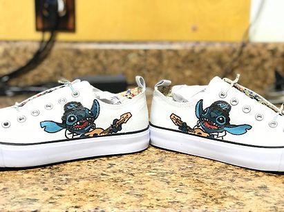 Hand painted canvas shoes, hand painted elvis stitch shoes, custom artwork, custom shoes, elvis stitch