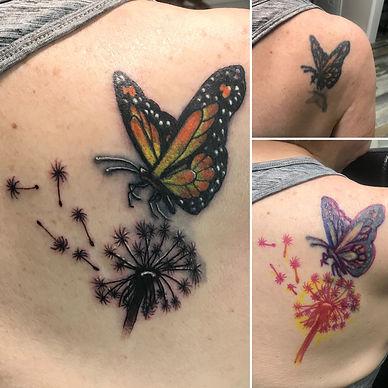 rework tattoo, cover up tattoo, butterfly tattoo, gregg allan, tattoo gallery ocala, tattoo gallery, tattoo, best tattoo, best ocala tattoo,