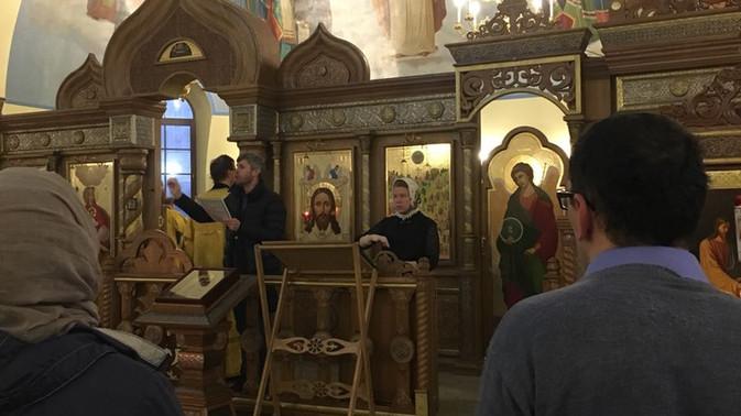 31 декабря 2017 г. казаки ТМО ВБКВ РФ посетили Храм Всех Святых в России просиявших