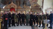 Встреча казаков ТМО ВБКВ с ополченцем с позывным Сенсей