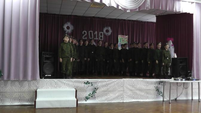 Образцово-показательное отчетное выступление кадетов 1-2 взвода казачьих кадетских классов имени «Ер