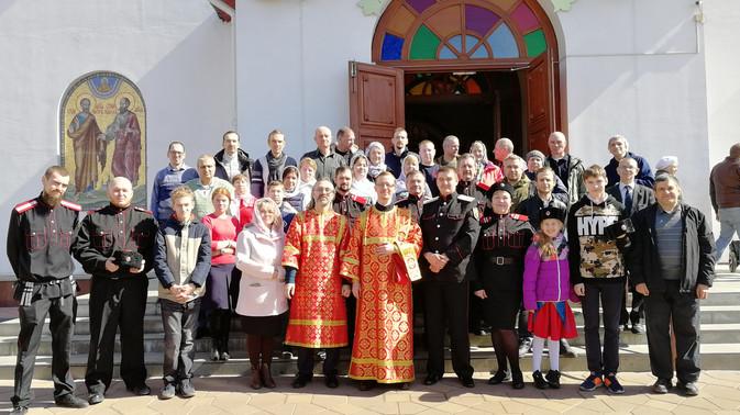 Пасхальный праздник в храме Всех святых в земле Российских просиявших