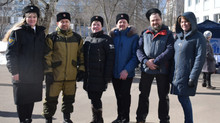 Казаки оказали поддержку Филиалу Покровское-Стрешнево ГБУ ТЦСО Тушино во время проведения выборов пр