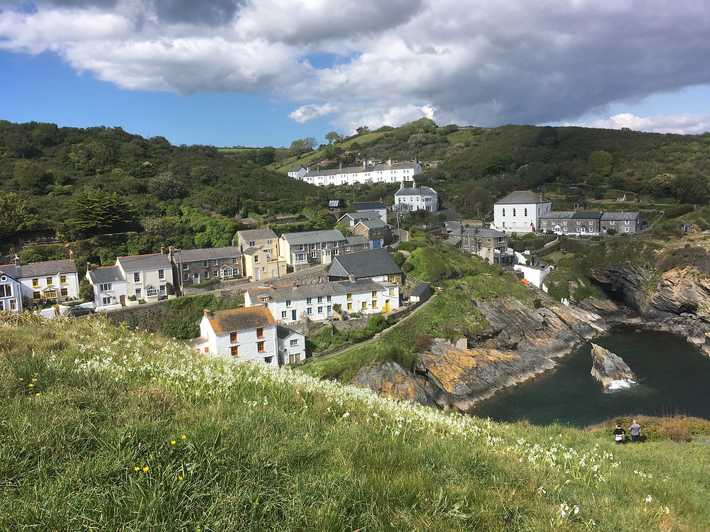 Picturesque Portloe fishing village Cornwall walking