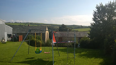 Childrens Play equipment at Tregolls Farm Holidays, Cornwall