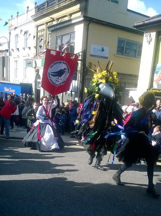 St Piran's Day Parade, Redruth Cornwall