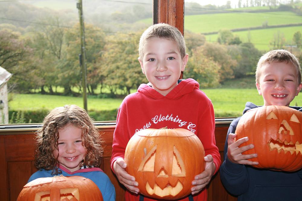 October half term pumpkins Tregolls Farm