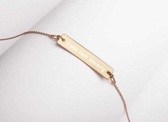 Engraved 'Non Binary' Necklace