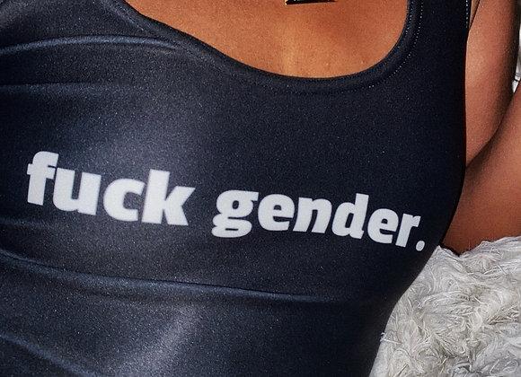 'fuck gender' Crop Top