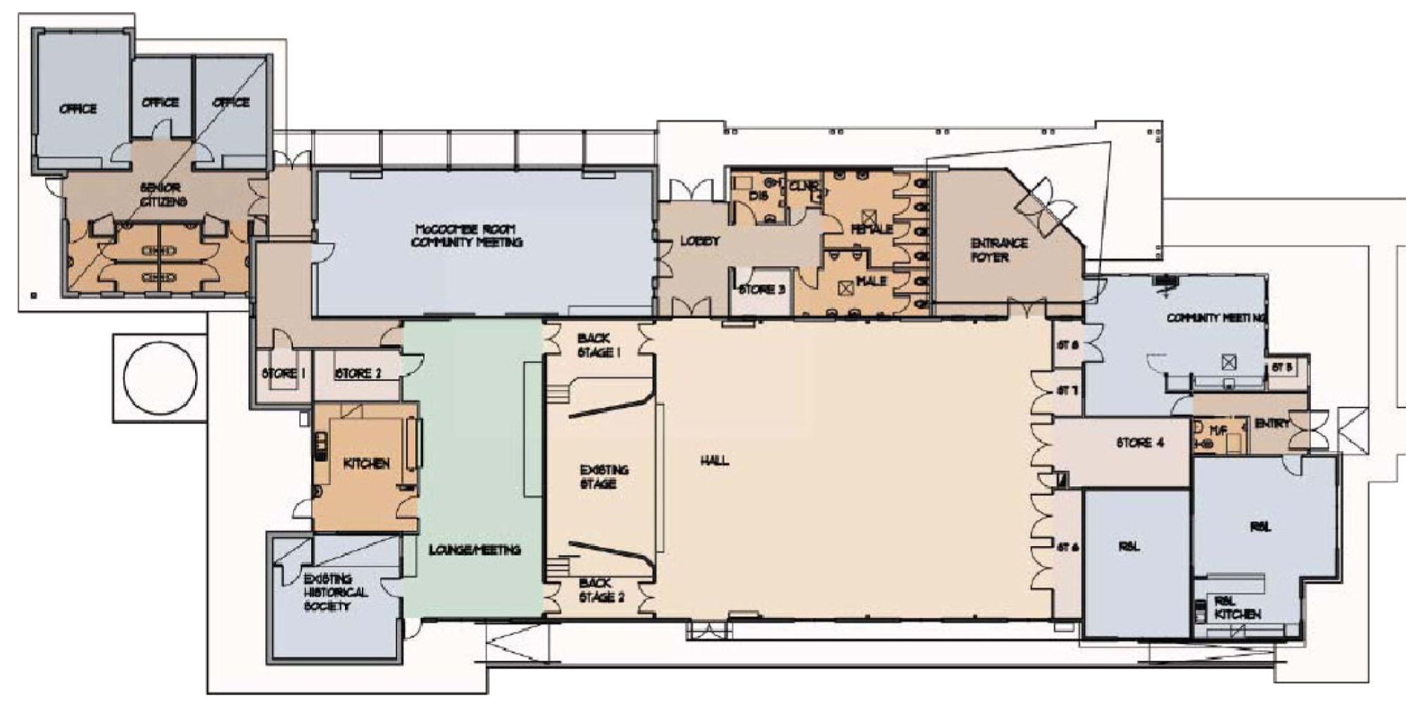 Yarra Glen Hall Plan