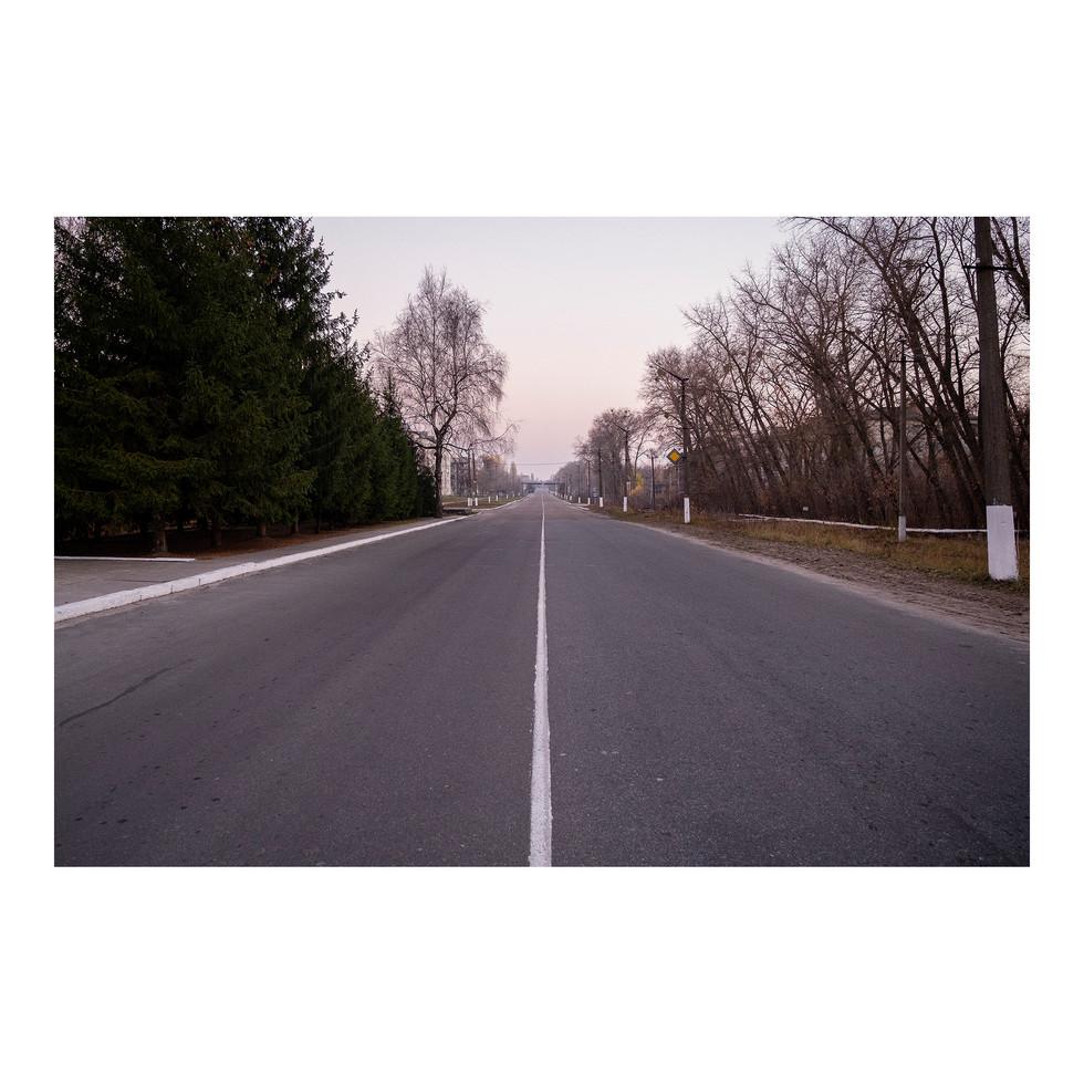 Sur la route de Chernobyl. Un faux air de Twin Peaks.