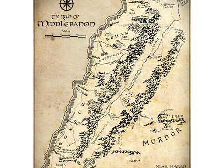 Carte du Liban (Lord of the Rings)