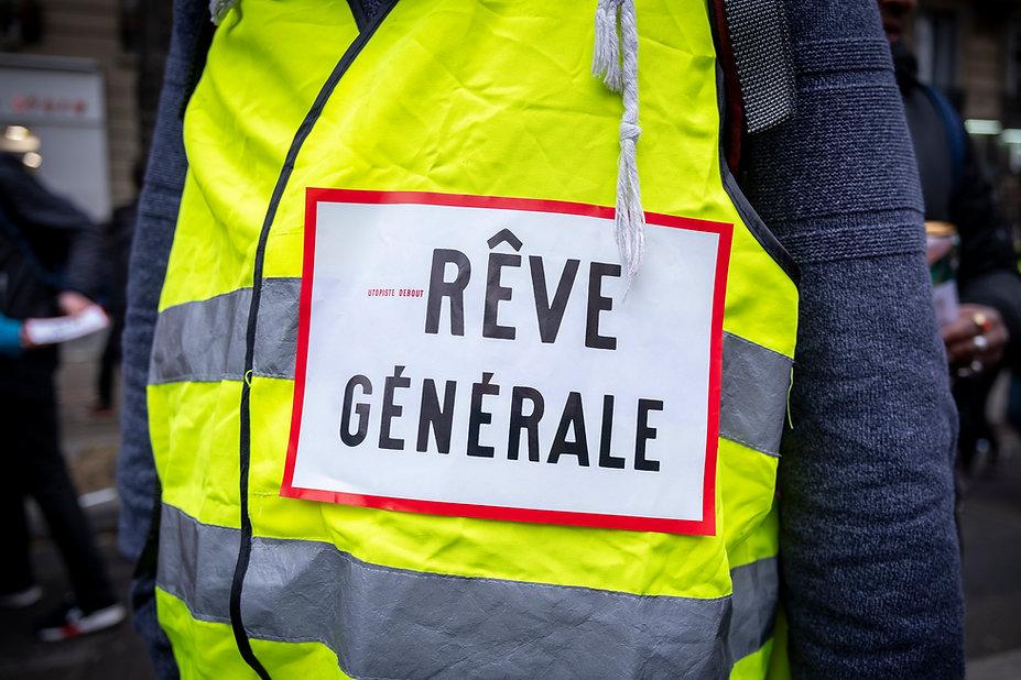 Journée de grève générale, manifestation syndicale et Black blocs. ©2019 Photographie David Hury. Paris, France.
