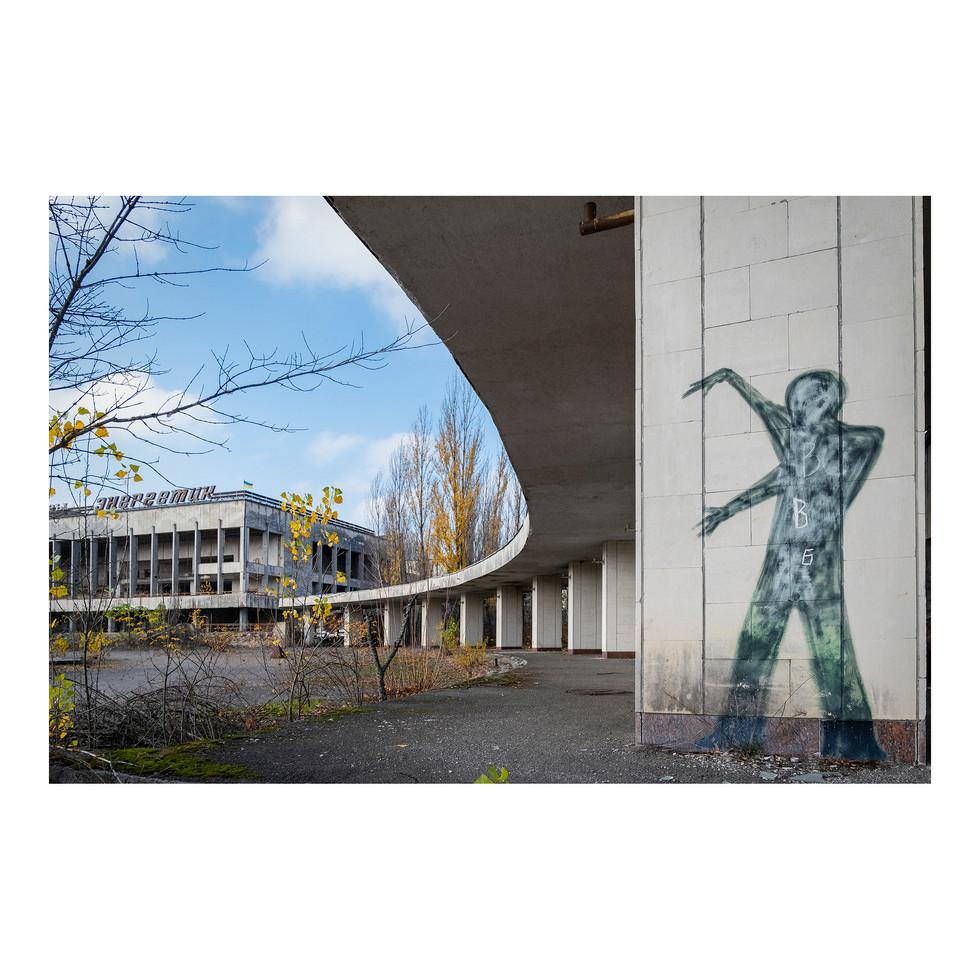 Des graffitis ornent plusieurs murs de Pripyat.