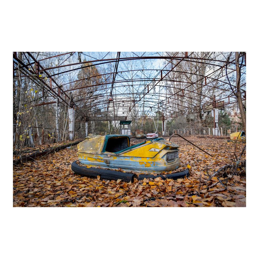 Pripyat, les fameuses auto tamponneuses du lunapark.