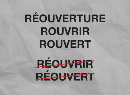 Rouvert vs. Réouvert