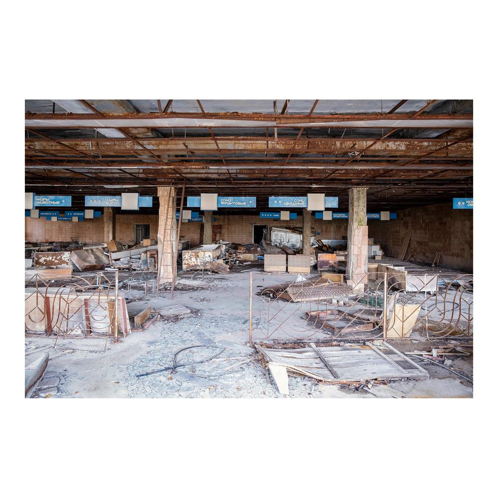 L'un des supermarchés de Pripyat.