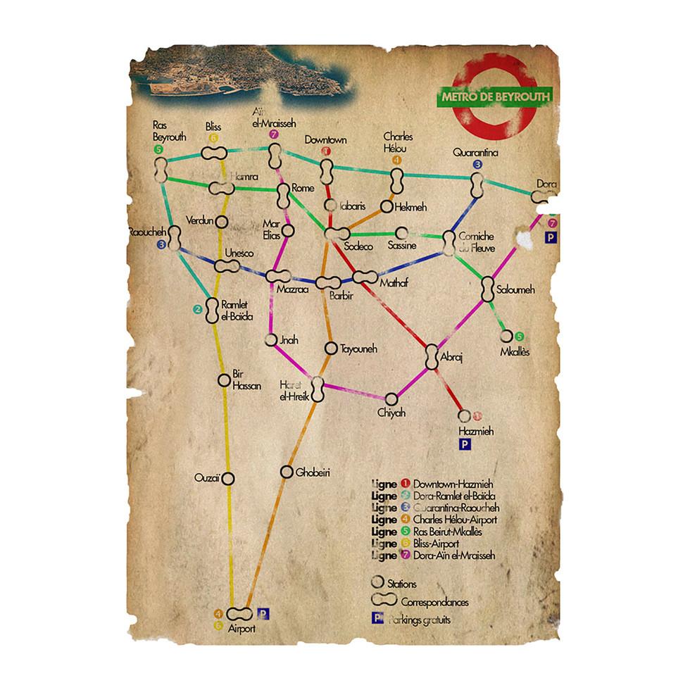 Plan du métro de Beyrouth