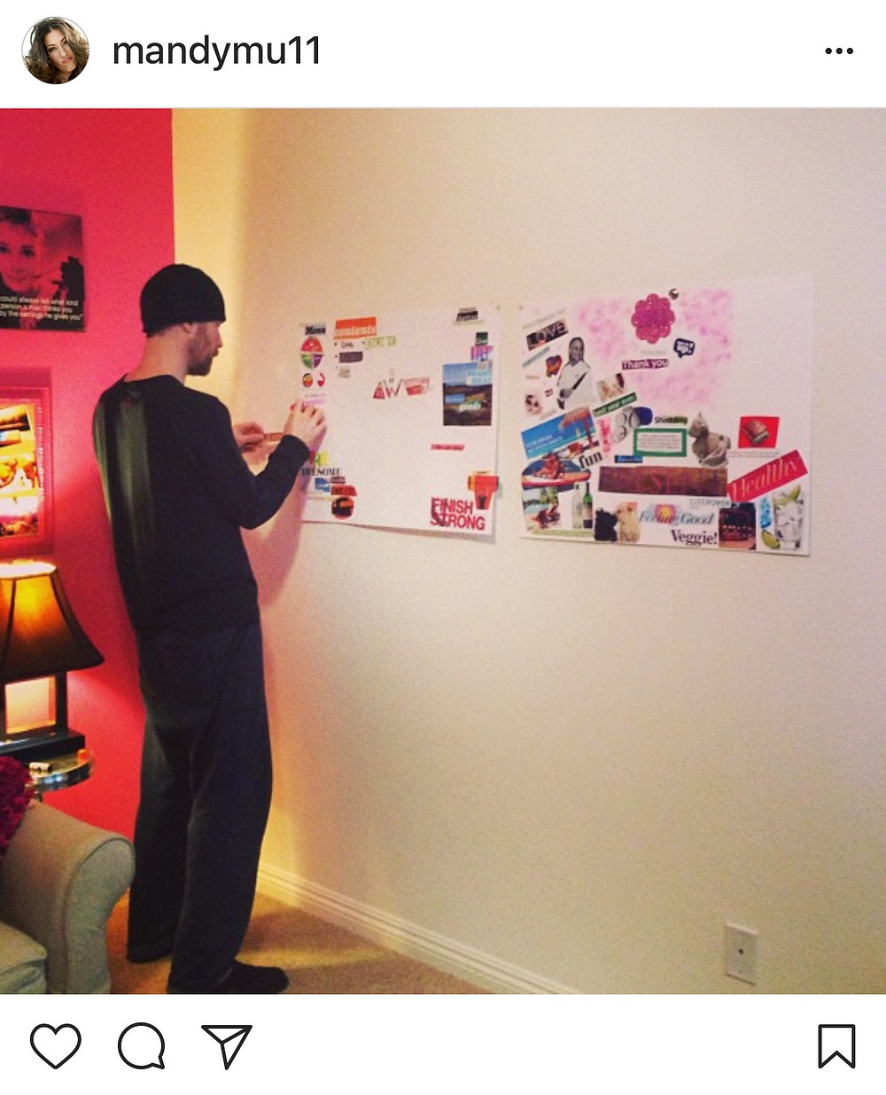 Rob working on his vision board a few years ago