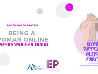 being a woman online: webinar series