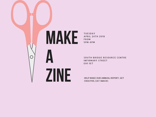Free zine making workshop