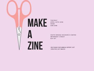 Free zine making workshop